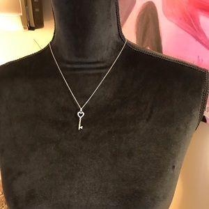 Tiffany key necklace with diamonds